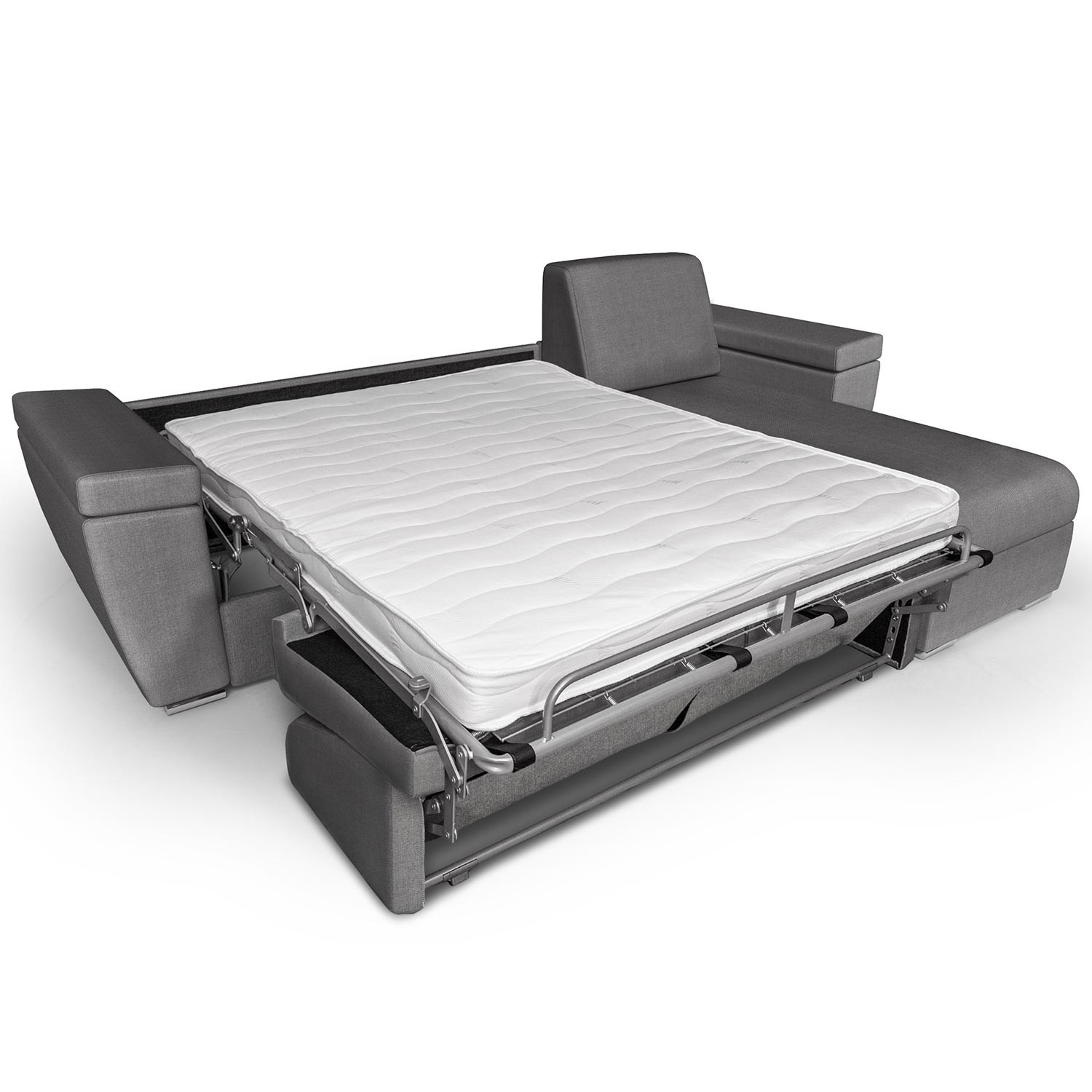 canap d 39 angle convertible express avec matelas int gr et coffre r. Black Bedroom Furniture Sets. Home Design Ideas