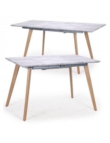 Table extensible Bilbao effet Marbre l038marble