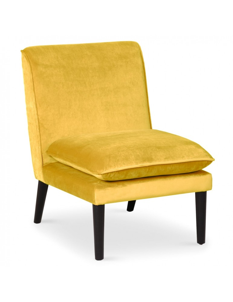 Fauteuil scandinave Romeo Velours Jaune lf0137hlr20