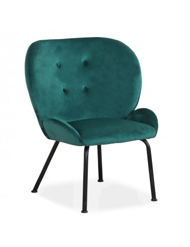 Fauteuil Coco Velours Vert lf0136hlr64