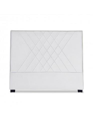 Tête de lit Diam 140cm Simili P.U. Blanc lf257140blanc