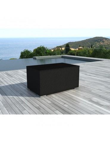 Box Noire - Coffre de rangement en resine tressee BOX-BLACK
