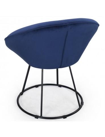Fauteuil Bouli Velours Bleu sf010bluevelvet