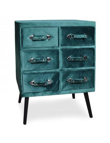 Commode 6 tiroirs Bardo Velours Vert msxbt1817velvetgreen