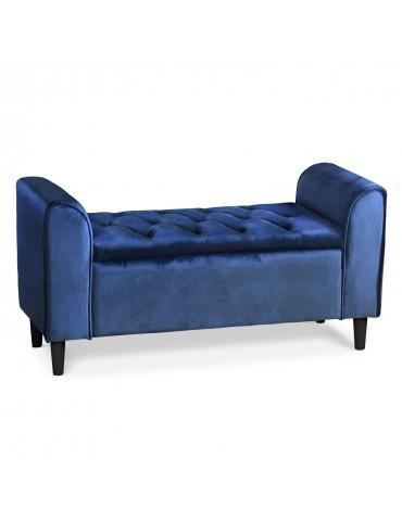 Banquette-coffre Winnie Velours Bleu lsr16051velvetblue