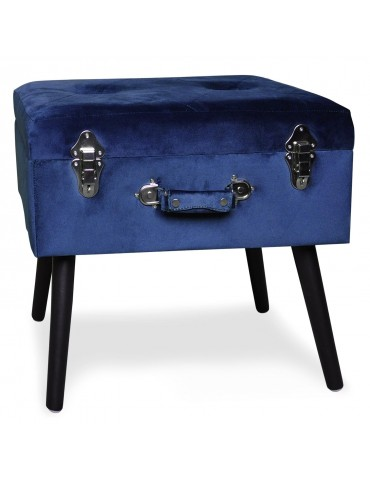 Pouf-coffre Bardo Velours Bleu msxbt1807svelvetblue