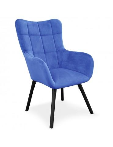 Fauteuil Onyx Velours Bleu 9067bluevelvet