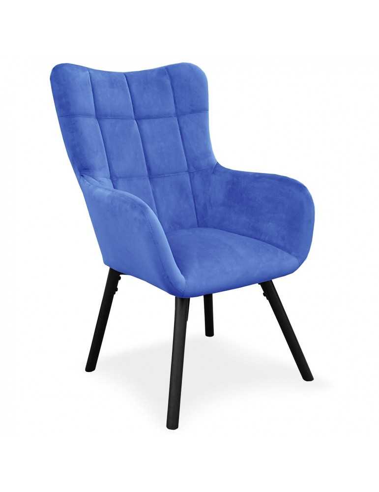 fauteuil onyx velours bleu 9067bluevelvet. Black Bedroom Furniture Sets. Home Design Ideas