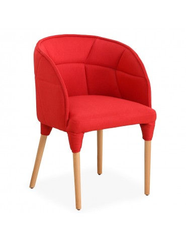 Chaise / Fauteuil Cielo Tissu Rouge lf0148rouge
