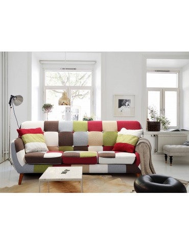 Canapé scandinave 3 places Bombay Multicolore hm1653multicolor