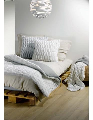 Plaid Troika Blanc 180 X 200 2975010000Les Ateliers du Linge