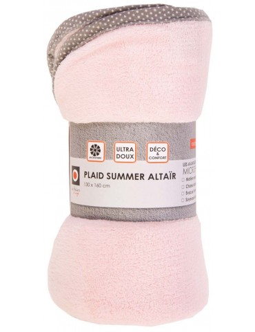 Plaid Summer Altair Rose 130 X 160 3413032000Les Ateliers du Linge