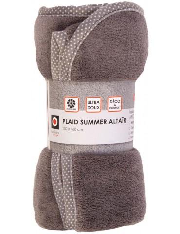 Plaid Summer Altair Gris 130 X 160 3413072000Les Ateliers du Linge