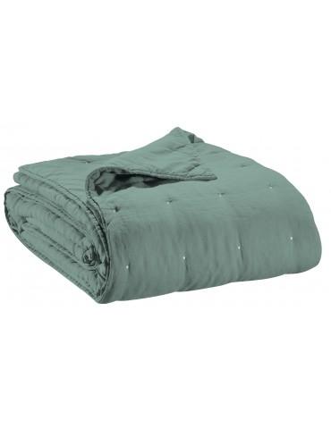 Jeté de lit stonewashed Zeff Vert de gris 240 x 260 7050020000Vivaraise