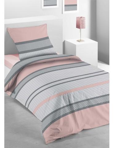 Parure de lit 1 personne Michka Imprimée Blush 140 X 200 avec housse de couette et taie(s) d'oreiller 6654000502Les Ateliers ...