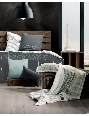 Parure de lit 2 personnes Crafty Quartz Imprimé 260 x 240 avec housse de couette et taies d'oreiller 7992000503Les Ateliers d...