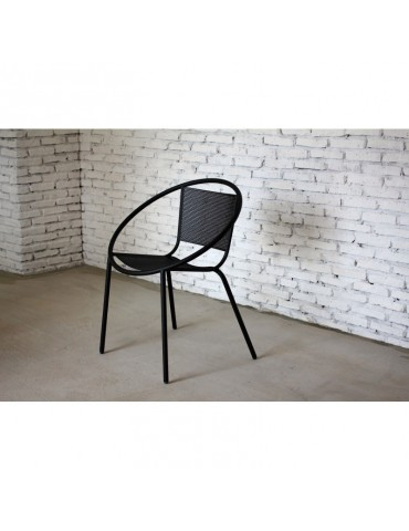 Sully Noir - Lot de 2 Fauteuils post-moderne en metal ACD-SULLY-BLACK