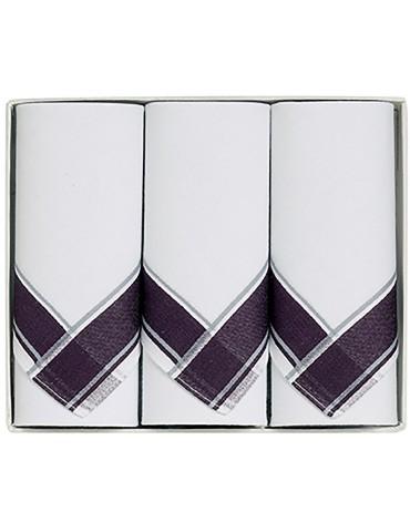 Boîte de 3 mouchoirs Luxe homme Nino Chocolat 40 x 40 cm 1439080803Winkler