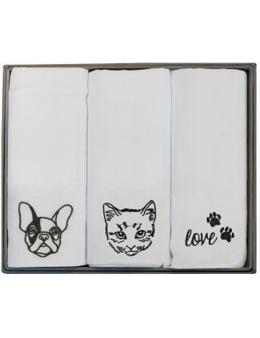 Boîte de 3 mouchoirs Luxe femme Caro Assortis 29 x 29 cm 4521090703Winkler