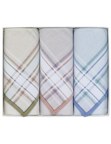 Boîte de 3 mouchoirs Luxe homme Henri Assortis 40 x 40 cm 4579090703Winkler