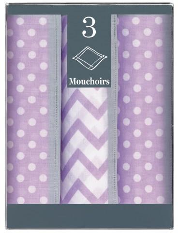 Boîte de 3 mouchoirs Diffusion femme Gina Violet 28 x 28 cm 8086090703Winkler