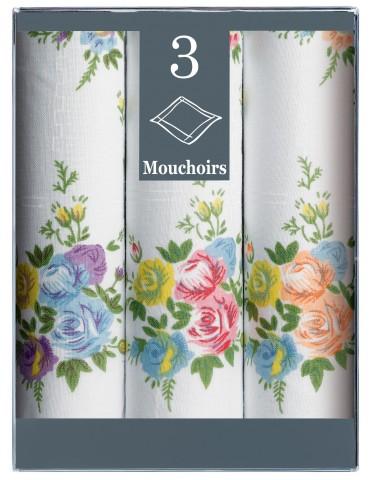 Boîte de 3 mouchoirs Diffusion Femme Fanny Blanc 29 X 29 6323010803Winkler