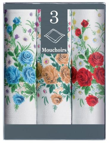 Boîte de 3 mouchoirs Diffusion Femme Ariane Blanc 29 X 29 6348010803Winkler