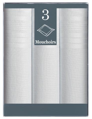 Boîte de 3 mouchoirs Diffusion Homme Arthur Blanc 40 X 40 7432010803Winkler