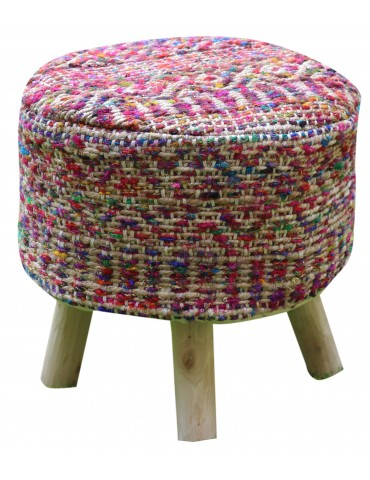 Housse de tabouret Sarah Multicolore 40 X 40 X 40 5821090000The Rug Republic