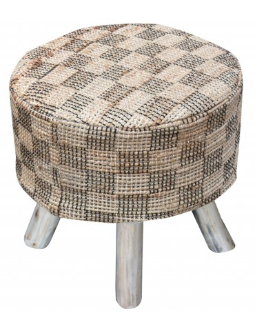 Housse de tabouret Diori Naturel 40 X 40 X 40 5824080000The Rug Republic