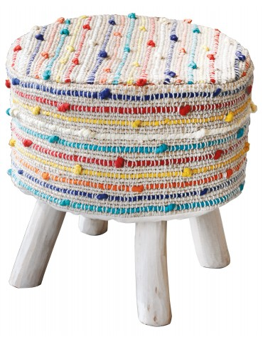 Housse de tabouret Barries Multicolore 40 X 40 X 40 5826090000The Rug Republic