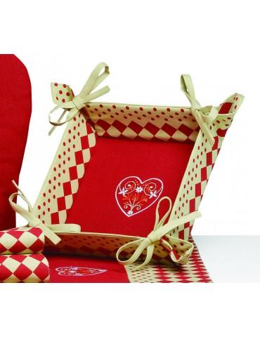 Corbeille à pain Rosa Rouge 20 X 20 X 7 cm 3951030000Ça et Là