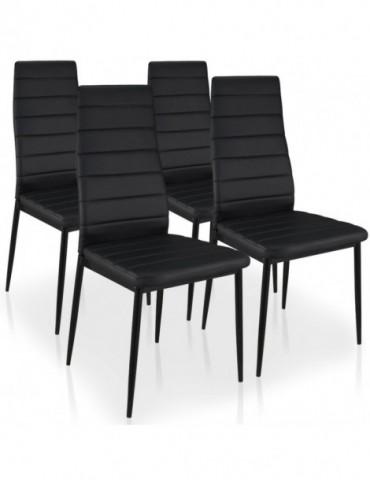 Lot de 4 chaises Stratus Noir MLM112157-Noir