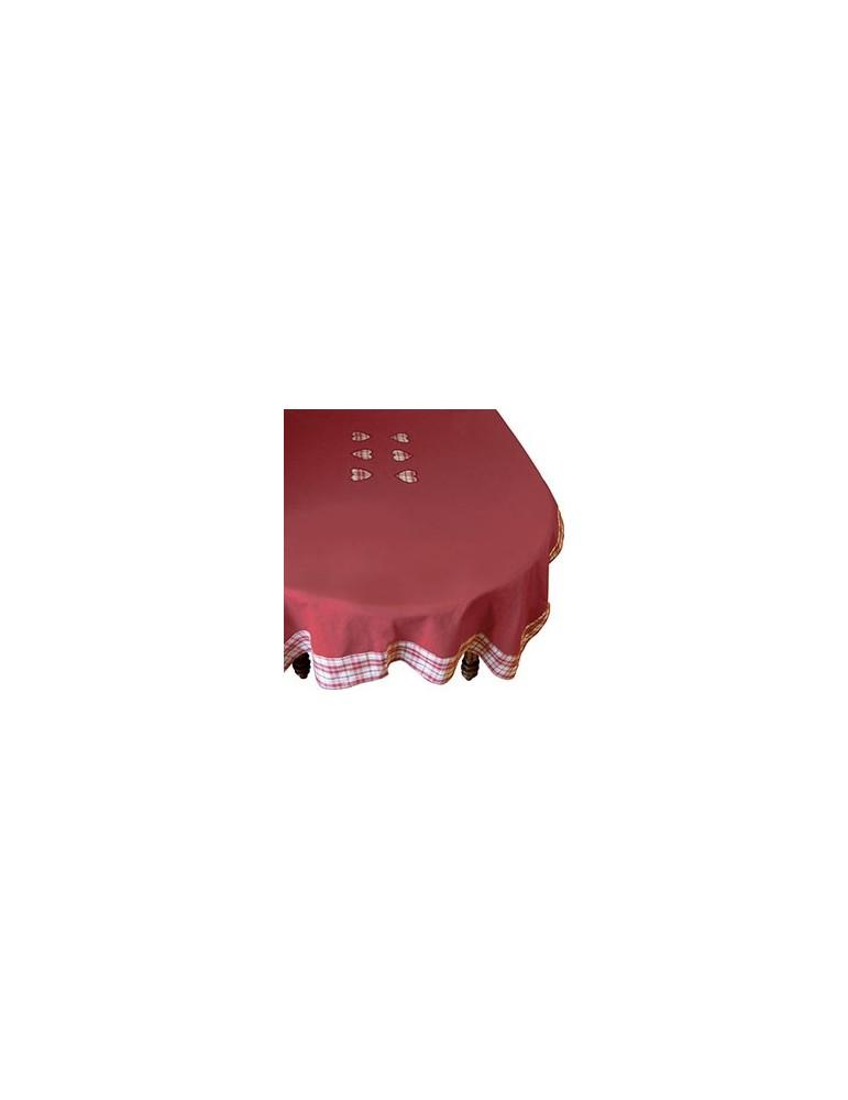 Nappe brodée Colombage Rouge 150 X 250 6332030401Ça et Là