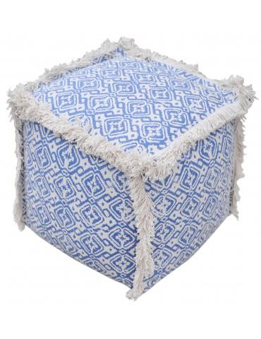 Pouf Baotou Bleu 40 X 40 X 40 5429060000The Rug Republic