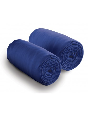 Double drap housse spécial matelas double Bleu 80 x 200 x 30 4700060502Les Ateliers du Linge