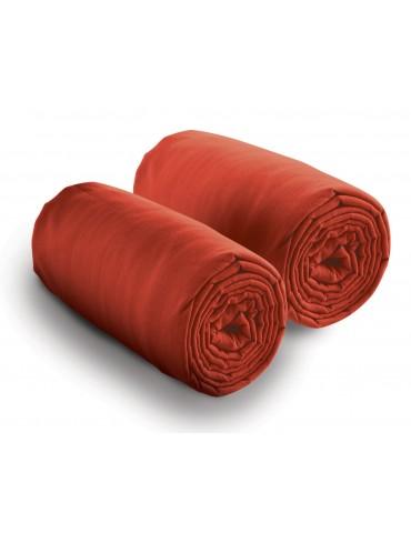 Double drap housse spécial matelas double Rouge 80 x 200 x 30 4700030502Les Ateliers du Linge