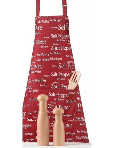 Tablier Sel & Poivre rouge 2246035000Winkler