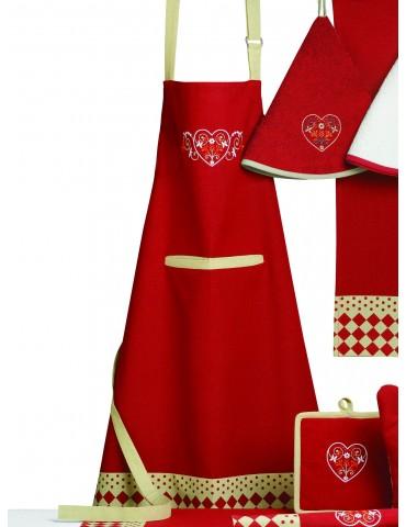 Tablier de cuisine Rosa Rouge 72 X 85 3889030000Ça et Là