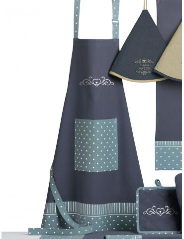 Tablier de cuisine Saphir Bleu 72 X 85 4066066000Ça et Là