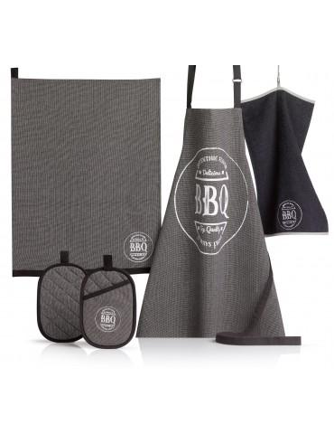 Torchon BBQ Noir 50 x 70 4286090602Les Ateliers du Linge