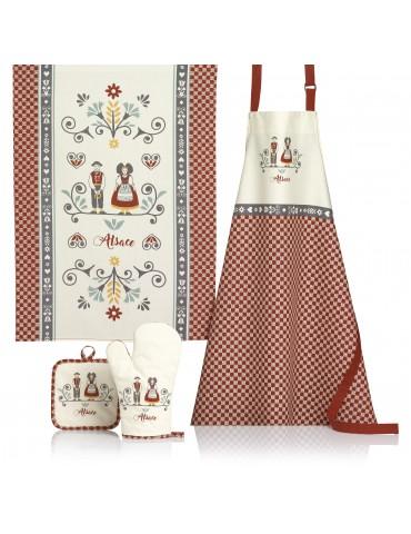 Torchon Elsa Rouge/ecru 70 x 50 4959030000Ça et Là