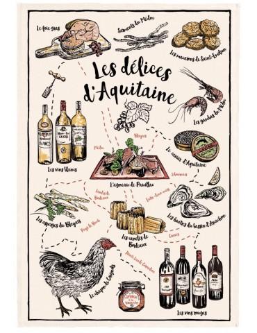 Torchon Les Délices d'Aquitaine Ecru 48 X 72 3808010000Torchons & Bouchons
