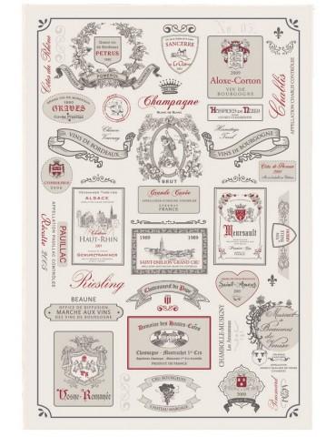 Torchon Étiquettes de vins Ecru 48 X 72 3858010000Torchons & Bouchons