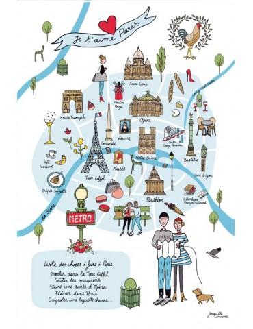 Torchon Carte Paris Ecru 48 X 72 3878010000Torchons & Bouchons