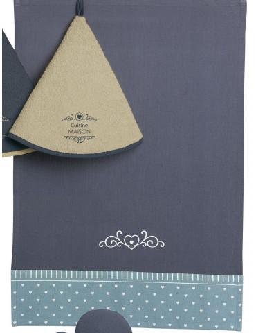 Torchon Saphir Bleu 70 X 50 4077066000Ça et Là