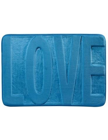 Tapis de bain Love Bleu 45 X 65 3140061601Les Ateliers du Linge