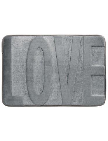 Tapis de bain Love Gris 45 X 65 3140070601Les Ateliers du Linge