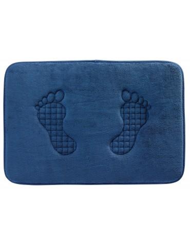 Tapis de bain Empreinte Bleu 45 X 65 3148064601Les Ateliers du Linge