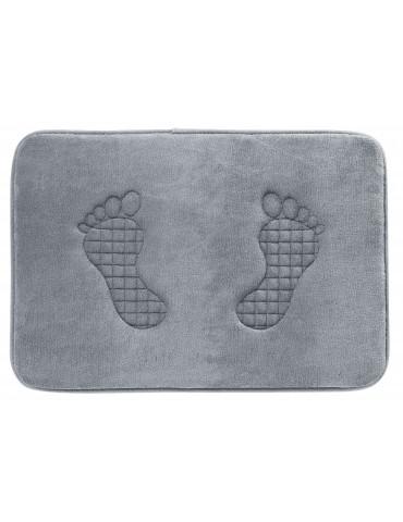 Tapis de bain Empreinte Gris 45 X 65 3148075601Les Ateliers du Linge